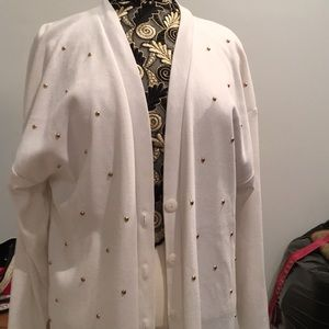 Belldouch Popper vintage cardigan white XL